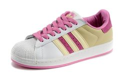 Adidas Superstar II White/Gold/Pink Womans trainers 677294