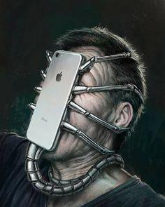 Surreal Illustrations That Depict The Horrible Truth About The Downfall Of Modern Society Social Media Art, Satirical Illustrations, Wow Art, Surreal Art, Art Plastique, Medium Art, Fantasy Art, Street Art, Weird