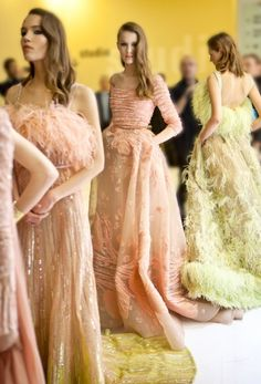 A ritual calm and magnetic energy infuses the backstage preparations for the ELIE SAAB Haute Couture Spring Summer 2015 fashion show in Paris, a tribute to the generous, warm and glamorous spirit of Beirut.