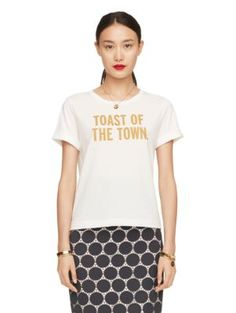 toast of the town tee - kate spade new york Size small $57.00 and 25% off