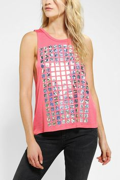 Sparkle & Fade Hollagrid Muscle Tee #urbanoutfitters