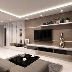 Best modern tv unit design for living room modern tv units for memorable Modern Tv Units, Room Design, Kitchen Interior Design Modern, Trendy Living Rooms, Dining Room Contemporary, Contemporary Decor Living Room, Ceiling Design Living Room, Living Decor, Living Room Tv
