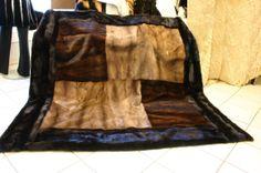 fur blanket made from vintage fur coats