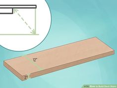 3 Ways to Build Deck Stairs - wikiHow Treads And Risers, Stair Risers, Building Code, Building A Deck, Stairs Measurements, Stairs Stringer, Brick Pathway, Concrete Pad, Deck Stairs
