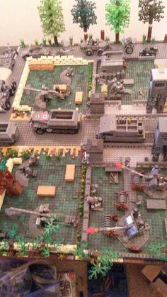 Arma Nerf, Lego Sculptures, Star Wars Jokes, Lego Moc, D Day, Stop Motion, Legos, Diorama, Ww2