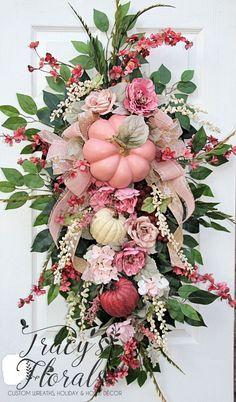 A personal favorite from my Etsy shop https://www.etsy.com/listing/550487141/elegant-fall-wreath-xl-fall-wreath