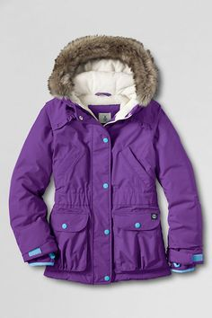 Girls' Waterproof Expedition Parka from Lands' End Good option if it goes on super sale