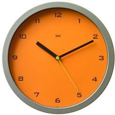 Bai Design wall clock in tangerine $29