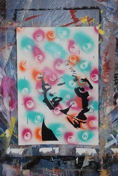 Marilyn Monroe 20x29 Custom Painting. $15.00, via Etsy.