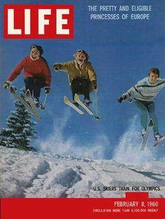 "Training at Aspen, Skiing - Life Magazine, February 8, 1960 issue - Visit http://oldlifemagazines.com/the-1960s/1960/february-08-1960-life-magazine.html to purchase this issue of Life Magazine. Enter ""pinterest"" for a 12% discount at checkout. - Training at Aspen, Skiing"
