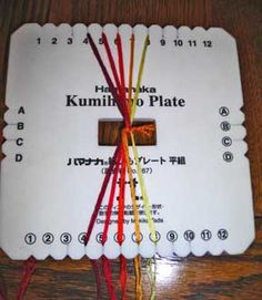 Everything for Kumihimo: braiding plate instructions