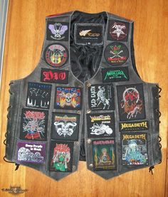 Leather Battle Vest - old skool | TShirtSlayer TShirt and BattleJacket Gallery
