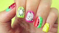 Ce nail art très fruité est parfait pour l'été