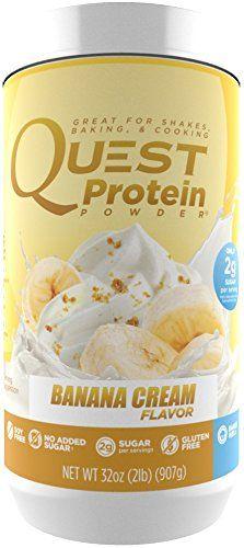 Quest Nutrition Protein Powder, Banana Cream, 21g Protein, 88% P/Cals, 0g Sugar, 3g Net Carbs, Low Carb, Gluten Free, Soy Free, 2lb Tub