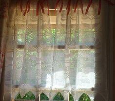 Vintage curtain pattern-diagram pattern.... In bright pink, orange, yellow....?