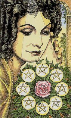 Eight of Pentacles - Cosmic Tarot  #beautyforbreastcancer #fragrancenet