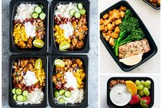 10 Meal Prep Ideas for the Week That Are Healthy & Delicious Meal prep for the week can be a challenge, but these easy and healthy meal prep ideas are the perfect way to… Diet Snacks, Healthy Snacks, Healthy Eating, Diet Meals, Healthy Meal Prep, Healthy Dinner Recipes, Breakfast Low Carb, Crockpot, All I Want For Christmas