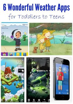"""Tired of the """"you can't wear that today"""" argument?  Help the kids become more independent and choose the right clothes for the day with these great weather apps!"""
