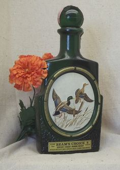 Vintage Collectible Jim Beam Choice Kentucky Bourbon Decanter Bottle,Waterfowl of Mallard Duck,by James Lockhart,Artist,NEW LISTING!!#VB7167 by ckdesignsforyou. Explore more products on http://ckdesignsforyou.etsy.com