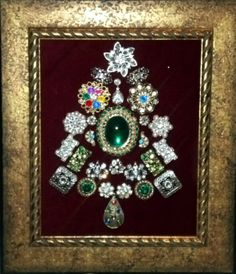 Christmas Craft! Tree made from Antique Jewelry...