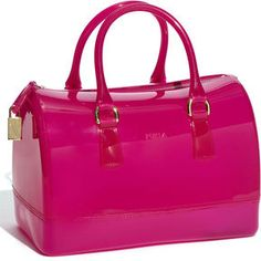 ShopStyle: Furla 'Candy' Transparent Rubber Satchel $248