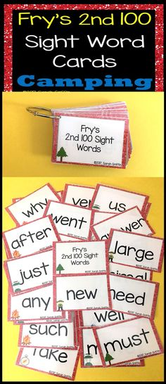 1st Grade Dolch Sight Words ~ Yellow Chevron ~ Word Wall Cards ...