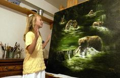 Young Akiane Kramarik is a brilliant prodigy artist who began showing great talent as early as 4 yrs old. View her work here: http://www.artakiane.com/