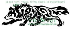 Horizontal Prowling Wolf Tatto by WildSpiritWolf