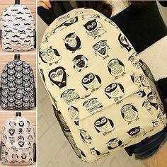 Tiger Animal Printed Rucksacks Canvas Backpack Women School Bags Bookbag Daypack