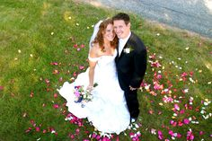 Take extra flower petals to the photo shoot before the reception
