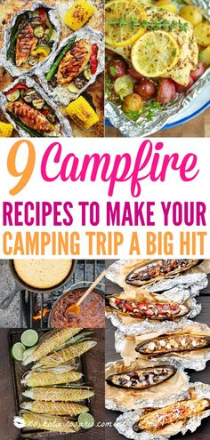 9 campfire recipes to make your camping trip you a hit | Campfire recipes don't need to be limited to just grilled chicken and corn. The absolute best camping recipes that aren't s'mores or hot dogs. Now that's the kind of campfire food that we can get on board with. Your camping trip is about to get a lot more exciting! #campingrecipes #campefirerecipes #camping