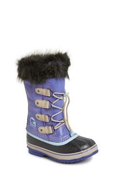 Free shipping and returns on SOREL 'Joan of Arctic' Boot (Little Kid) at Nordstrom.com. A sized-down version of an iconic SOREL boot features easy, adjustable drawstring laces and a cozy faux-fur collar for cold-weather charm. A handcrafted rubber sole and waterproof, seam-sealed construction add rugged practicality to the design.
