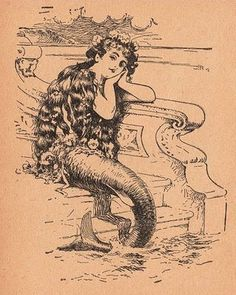 antique map mermaid - Google Search