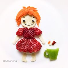 Food Art. PONYO the human.