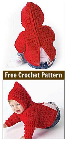 3f74c252b4f31a Zip Back Baby Hoodie Sweater Free Crochet Pattern