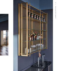Home Wet Bar, Bars For Home, Bar Shelves, Glass Shelves, Speakeasy Decor, Home Bar Designs, Wet Bar Designs, Bar Counter Design, Alcohol Bar