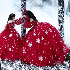 """""""Mommy and I are a couple of snowflakes in red. Mother Daughter Photos, Mother Daughter Photography, Mother Daughter Outfits, Mommy And Me Outfits, Mom Daughter, Girl Outfits, Casual Dresses, Girls Dresses, Flower Girl Dresses"""