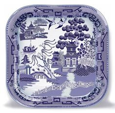 Square Willow Pattern Plate