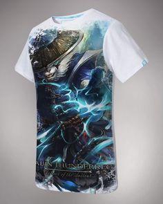 DOTA 2 hero Storm Spirit printed T shirts plus size white t-shirts for men