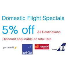 Get 5% Discount on Air Ticket.Validity: 1 yearNumber of Ticket: 2No need to book 2 tickets at same time, you can book air ticket within 1 year time span.For Example : Book 1 air ticket in April and book next in December.Booking ProcedureSend your travel details 1 day before to support@punecity