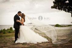 wedding gowns, tulle, tulle gowns, lazaro, lazaro wedding gowns, wedding dresses, long veils, veil pictures, cathedral veils (aislinn kate, pensacola weddings)