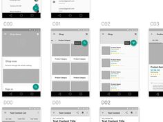 Material Design Wireframe Kit on UI Space