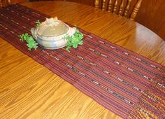 Hand Loomed  Ikat Table Runner  Handwoven on by TheFairLine, $42.00