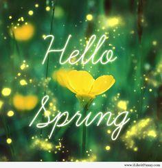 Amazing hello spring