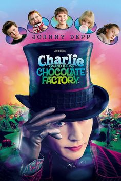 """""""Charlie and the Chocolate Factory"""" *Family/Comedy by Roald Dahl (directed by Tim Burton)-- starring Johnny Depp, Freddie Highmore, and David Kelly Tim Burton, Streaming Movies, Hd Movies, Movies To Watch, Movies Online, Movies Free, Online Games, Love Movie, Movie Tv"""