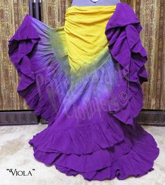 "25 Yard Skirt  ""Viola"" color palette by Painted Lady Clothiers  You can order yours here: http://www.paintedladyemporium.com/Shop-Here.html"