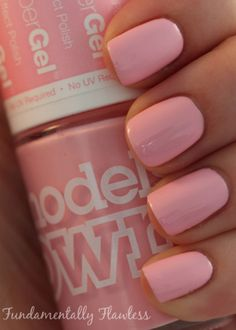 Fundamentally Flawless: Models Own HyperGel Pink Veneer swatch. Anecdote : I actually went to this shop in Westfield and it is sooo eye pleasing and their arrangement is soo AMAZING! but it's absolutely worth it. Love Nails, Pink Nails, How To Do Nails, Pretty Nails, Different Nail Designs, Colorful Nail Designs, Beautiful Nail Designs, French Acrylic Nails, French Tip Nails