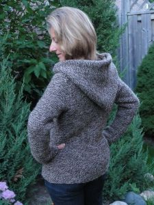 Fall Cardigan with Hood and Felted Slippers