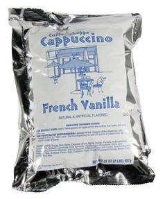 French Vanilla Cappuccino Mix 6 - 2 lb. Bags / CS