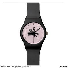 Beautician Design Pink Wrist Watch 30% off